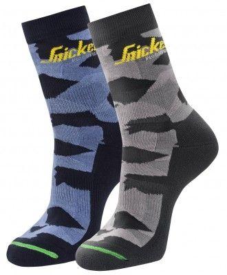 9219 Snickers FlexiWork Camo-Socken 2-Pack